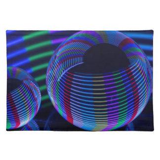 Salvamanteles Luces espirales en el cristal