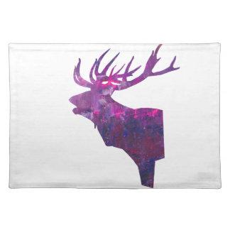 Salvamanteles Macho principal de los ciervos en lila