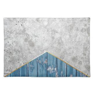 Salvamanteles Madera azul #347 de la flecha concreta