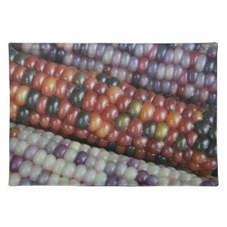 Salvamanteles Maíz en la mazorca de cristal colorido de la gema