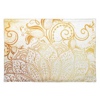 Salvamanteles Mandala - cepillo de oro