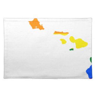 Salvamanteles Mapa de la bandera de Hawaii LGBT