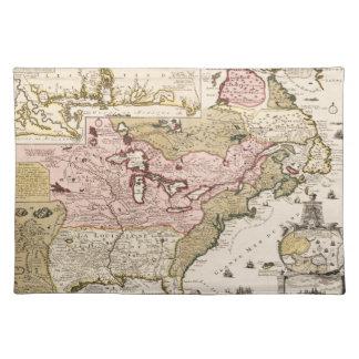 Salvamanteles Mapa medieval América del francés de Quebec/de