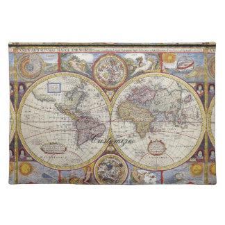 Salvamanteles Mapa Thunder_Cove del vintage del viajero de mundo