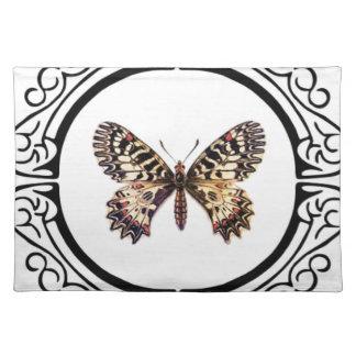 Salvamanteles mariposa anillada manchada