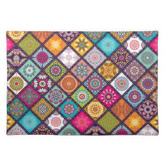 Salvamanteles Marroquí colorido del modelo de la mandala