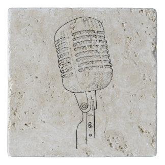 Salvamanteles Micrófono retro del viejo vintage