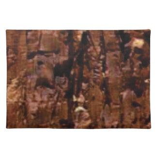 Salvamanteles migaja marrón de la roca