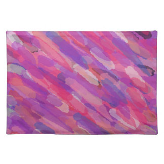 Salvamanteles Modelo abstracto púrpura y rosado