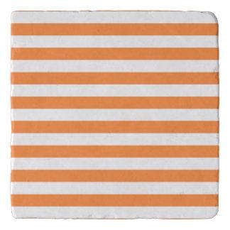 Salvamanteles Modelo anaranjado y blanco de la raya
