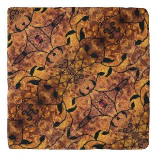 Salvamanteles Modelo de la silueta de las hojas de otoño