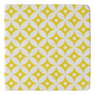 Salvamanteles Modelo de lunares amarillo y blanco moderno del