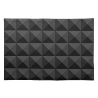 Salvamanteles Modelo geométrico moderno de la casilla negra