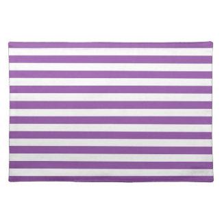 Salvamanteles Modelo púrpura y blanco de la raya