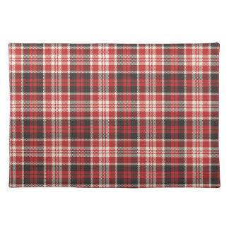 Salvamanteles Modelo rojo y negro de la tela escocesa