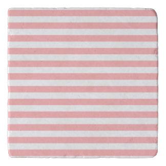 Salvamanteles Modelo rosado y blanco de la raya