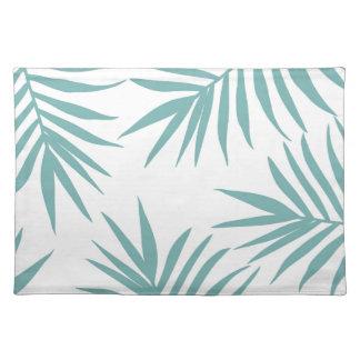 Salvamanteles Modelo tropical verde delicado de las hojas