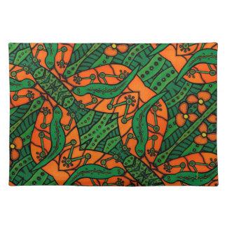 Salvamanteles Modelo verde y anaranjado del lagarto del Gecko