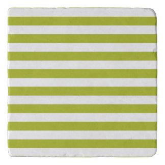 Salvamanteles Modelo verde y blanco de la raya