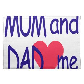 Salvamanteles Momia y papá yo, mamá