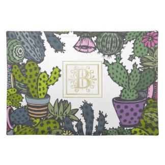 Salvamanteles Monograma B del cactus