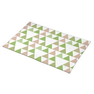 Salvamanteles Mosaico geométrico del árbol de la col rizada del