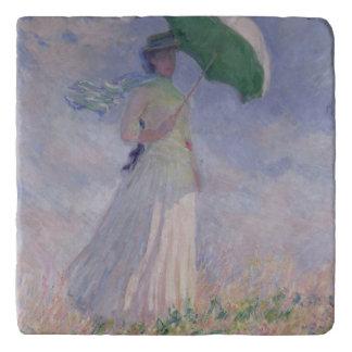 Salvamanteles Mujer de Claude Monet el | con un parasol dado