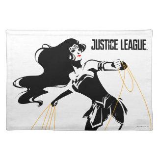 Salvamanteles Mujer Maravilla de la liga de justicia el   con