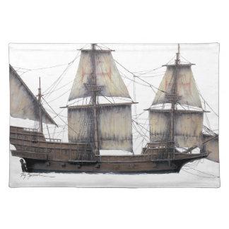 Salvamanteles Nave de oro de 1578 Hinde