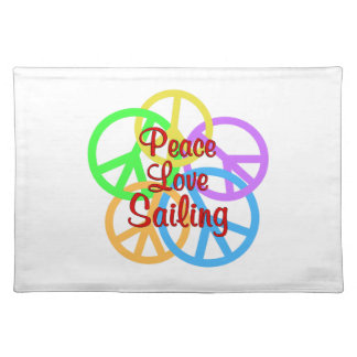 Salvamanteles Navegación del amor de la paz