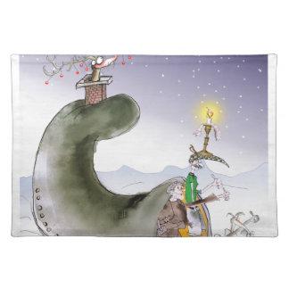 Salvamanteles Navidad de Yorkshire del amor felices