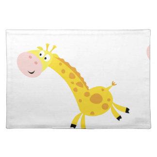 Salvamanteles Niños lindos 3 jirafas