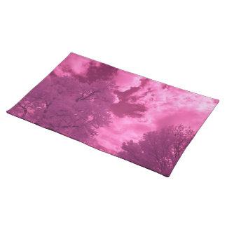 Salvamanteles Nube rosácea del infrarrojo de las tonalidades