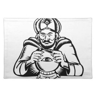 Salvamanteles Ojo del adivino en el grabar en madera de la bola