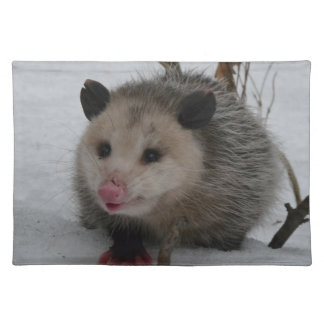 Salvamanteles Oposum de la nieve