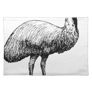 Salvamanteles Pájaro del Emu