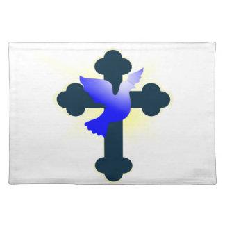 Salvamanteles Paloma y cruz