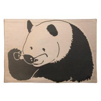 Salvamanteles Panda fresca con las sombras