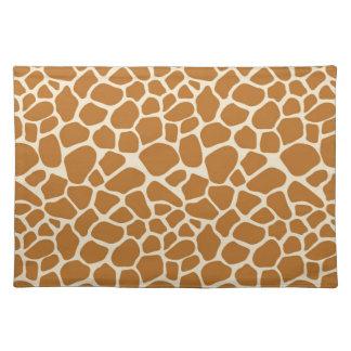 Salvamanteles Paño Placemat del estampado de girafa