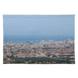 Salvamanteles Panorama aéreo espectacular de la ciudad de