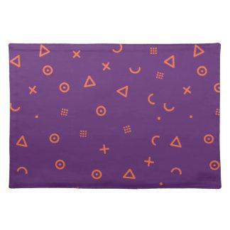 Salvamanteles Partículas felices púrpuras