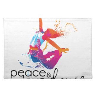 Salvamanteles Peace & love Dance