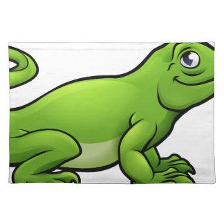 Salvamanteles Personaje de dibujos animados del lagarto de
