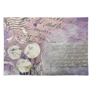 Salvamanteles Pétalos violetas - colección