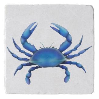 Salvamanteles Piedra atlántica Trivet del cangrejo azul