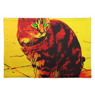 Salvamanteles Pintura al óleo del gato