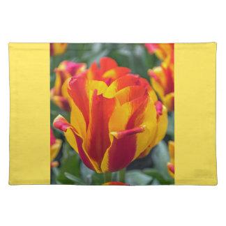 Salvamanteles Placemat de los tulipanes de Banja Luka