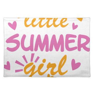 Salvamanteles Poco diseño fresco del chica del verano