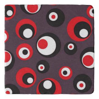 Salvamanteles Práctico de costa rojo, blanco y negro del arte