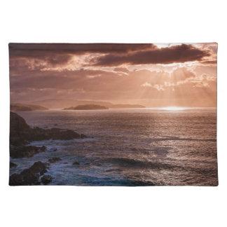 Salvamanteles Puesta del sol escocesa, costa del norte de